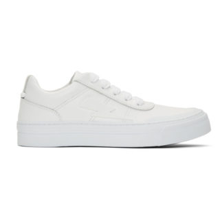 Neil Barrett White Thunderbolt Skater Sneakers