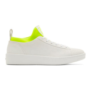 Kenzo White Suede K-City Sneakers