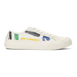 PS by Paul Smith White Painted Sports Stripes Fennec Sneakers