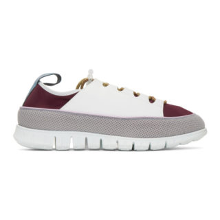Sunnei White and Purple Water Sneakers