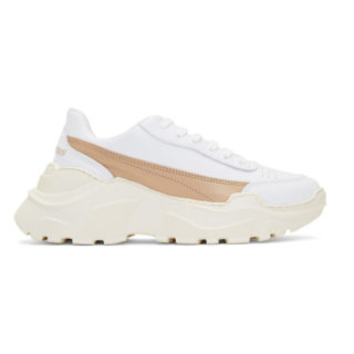 Joshua Sanders SSENSE Exclusive White and Pink Zenith Sneakers