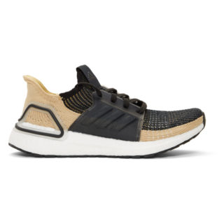 adidas Originals Black and Beige UltraBOOST 19 Sneakers
