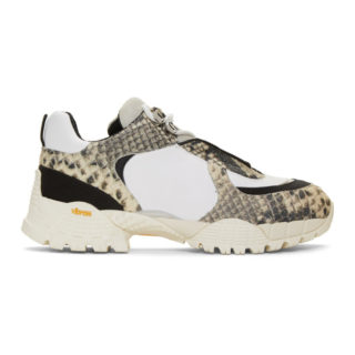 1017 ALYX 9SM Off-White and Black Snake Low Hiking Sneakers