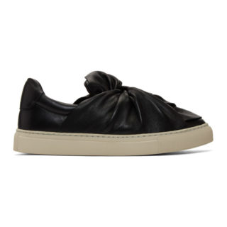 Ports 1961 Black Leather Bow Sneakers