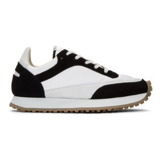 Spalwart Black and White Tempo Low Sneakers