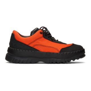 Kiko Kostadinov Black and Orange Camper Edition Teix Sneakers