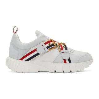 Thom Browne White Strap Raised Running Sneakers