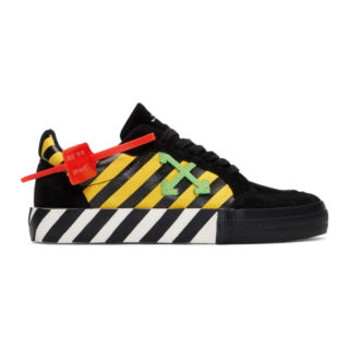 Off-White Black and Yellow Low Vulcanized Sneakers