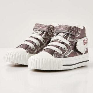 British Knights roco baby meisjes sneakers hoog - donker grijs - maat 22 (grijs)