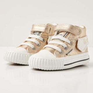 British Knights roco baby meisjes sneakers hoog - goud - maat 21 (goud)