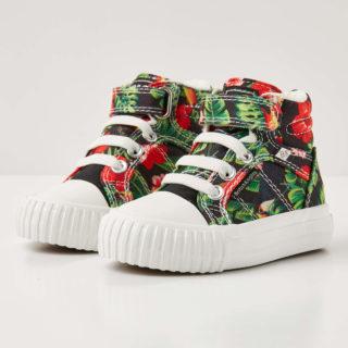 British Knights dee baby meisjes sneakers hoog - rode bloemen - maat 21 (rood)