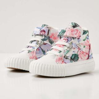 British Knights dee baby meisjes sneakers hoog - lila bloemen - maat 22 (Overige kleuren)