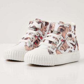 British Knights dee baby meisjes sneakers hoog - gebroken wit - maat 20 (wit)