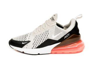 Nike Air Max 270 (Black / Light Bone - Hot Punch - White)