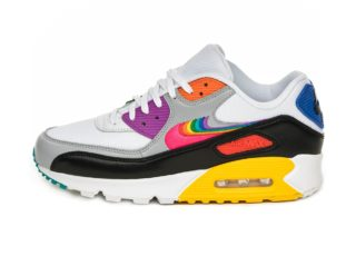 Nike Air Max 90 *BETRUE* (White / Multi - Color - Black - Wolf Grey)