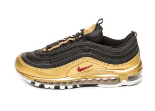Nike Air Max 97 QS (Black / Varsity Red - Metallic Gold - White)