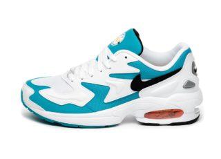 Nike Air Max² Light (White / Black - Blue Lagoon - Laser Orange)