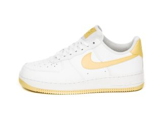 Nike Wmns Air Force 1 '07 (White / Bicycle Yellow - White - Dark Sulf