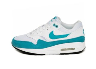 Nike Wmns Air Max 1 (White / Light Blue Fury - Black)