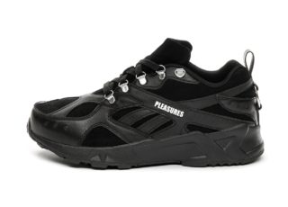 Reebok x Pleasures Aztrek (Black / Black / White)