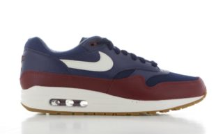 Nike Air Max 1 Blauw Bordeaux Rood Heren