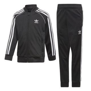 Adidas adidas Superstar Trainingspak Zwart Kinderen