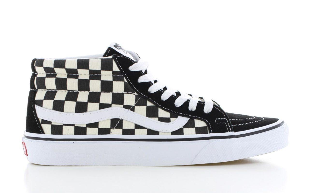 f358a2c3e1a Vans SK8-Mid Reissue Checkerboard Zwart Dames