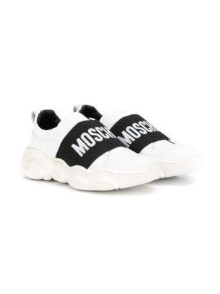 Moschino Kids Sneakers met logo - Wit