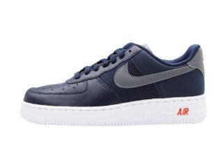 Nike Air Force 1 '07 LV8 (blauw/grijs/oranje/grijs)