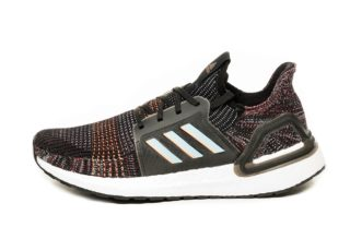 adidas Ultra Boost 19 (Core Black / Glow Blue / Core Black)