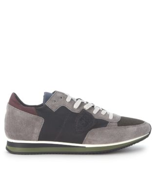 Philippe Model Sneaker Philippe Model Tropez In Grey Suede And Leather (grijs)