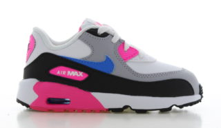 Nike Air Max 90 Leather Wit/Zwart/Roze
