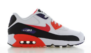Nike Air Max 90 Leather Wit/Zwart/Rood