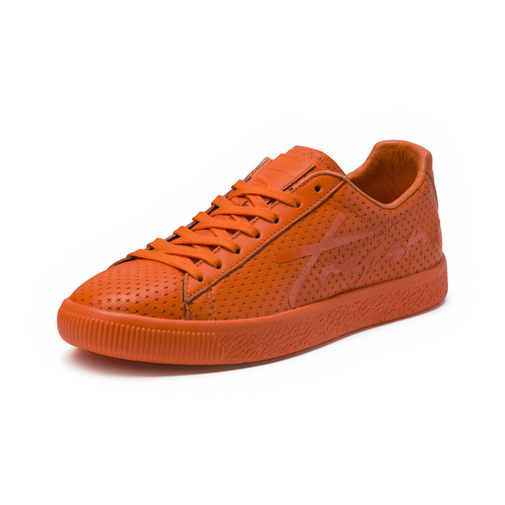 Puma Clyde Perforated Trapstar Golden Poppy