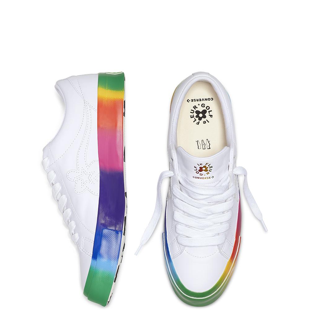 Converse One Star Ox Golf Le Fleur Rainbow Sole (166409C)