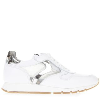 Voile Blanche Voile Blanche White Julia Mesh Leather And Mesh Sneaker (wit)