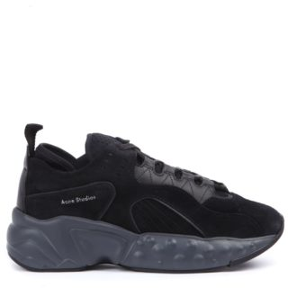 Acne Studios Acne Studios Black Suede Rockaway Sneakers (zwart)