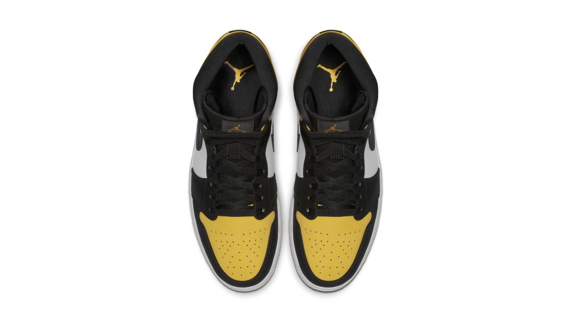 Jordan Air 1 Mid Yellow Toe Black (852542-071)