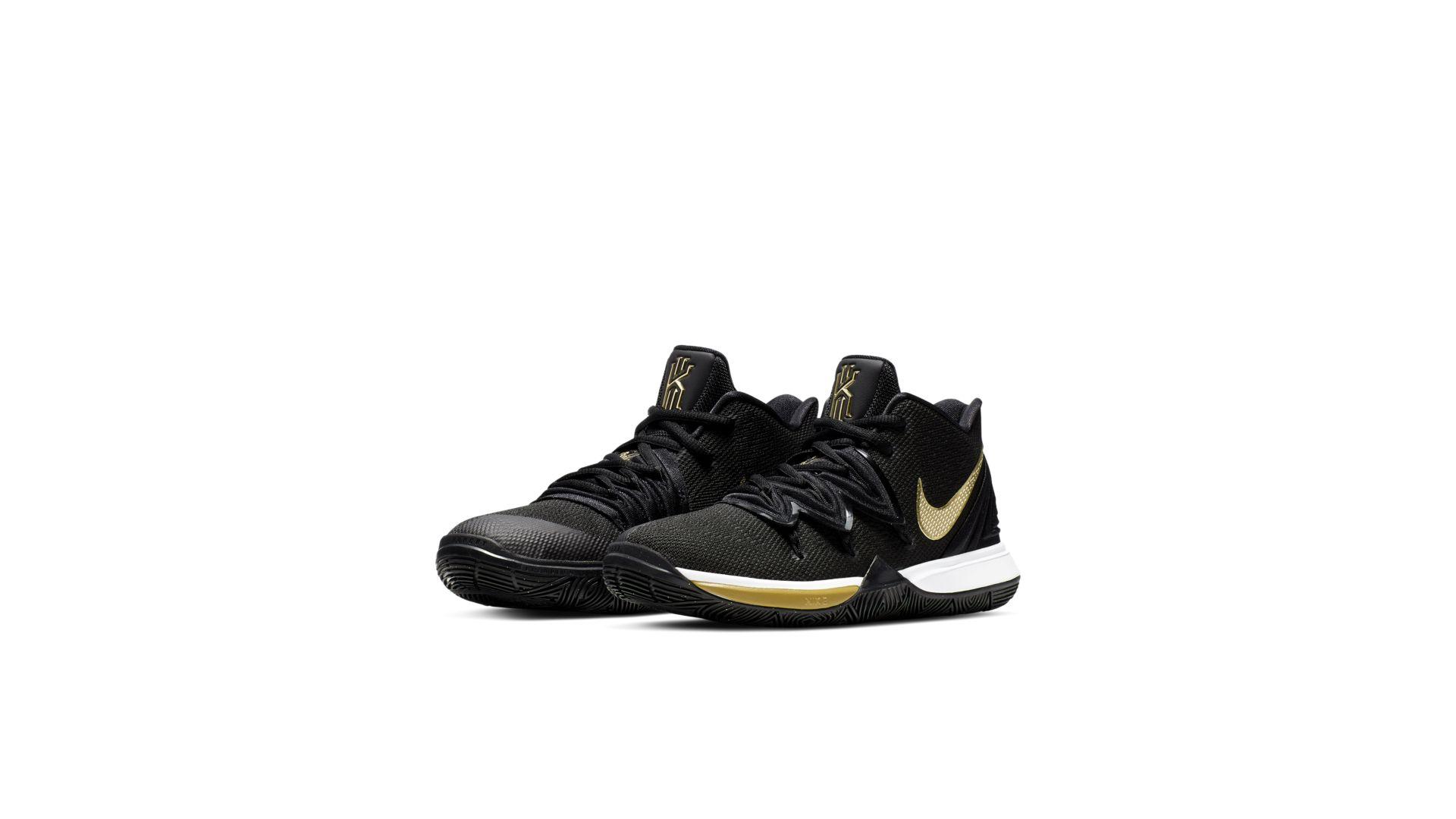 Nike Kyrie 5 Black Metallic Gold (GS) (AQ2456-007)
