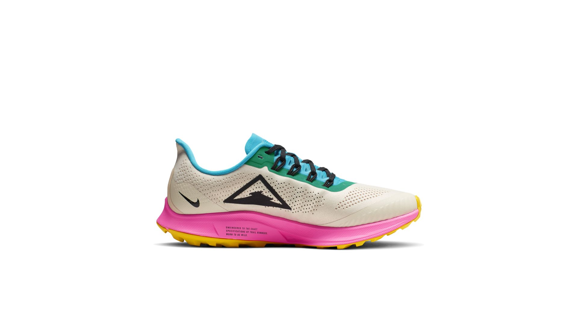 Nike Air Zoom Pegasus 36 Trail Light Orewood Brown Pink Blast Blue Lagoon (W) (AR5676-101)
