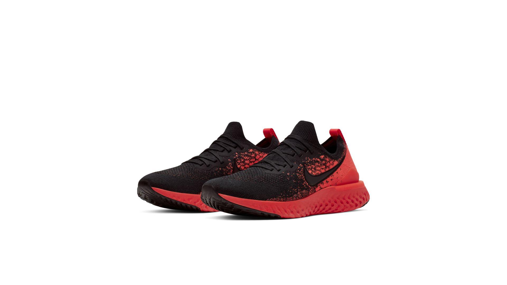 Nike Epic React Flyknit 2 Black Bright Crimson Infrared (BQ8928-008)