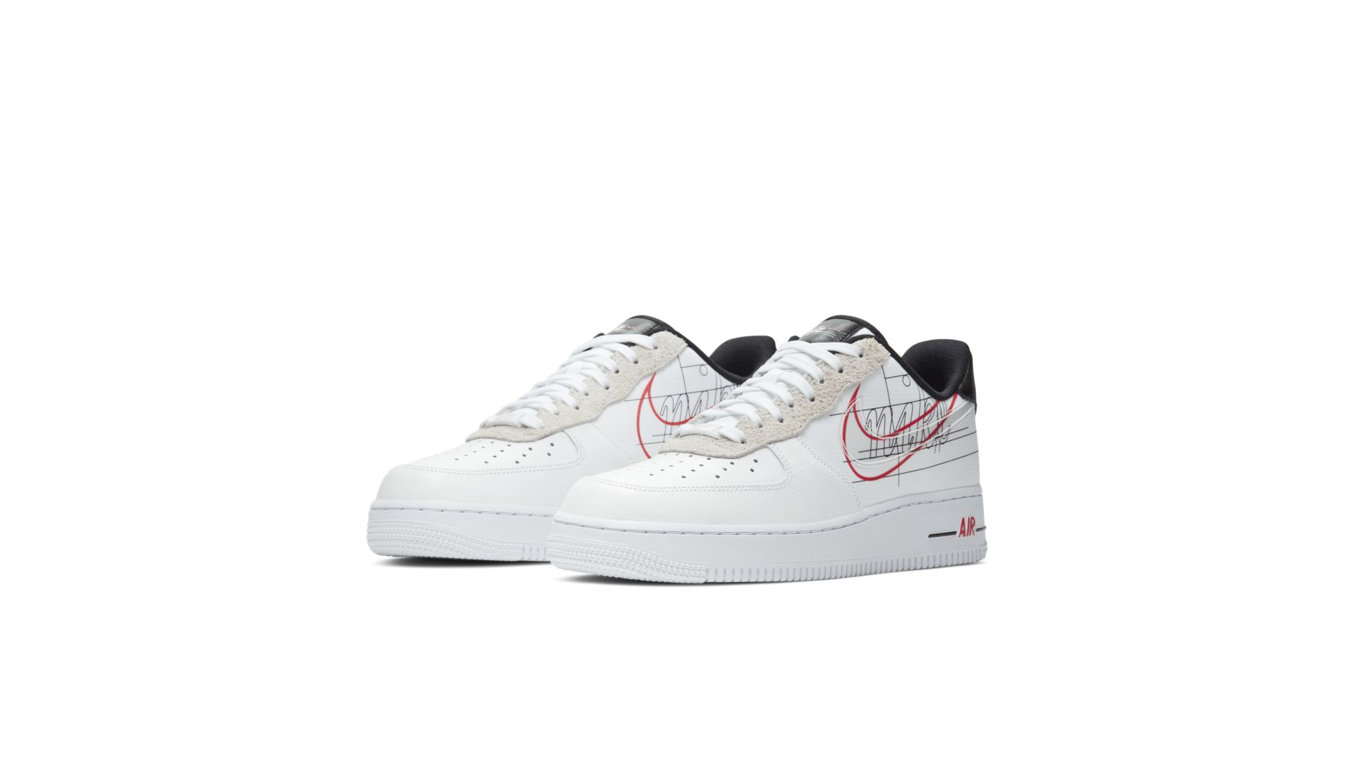 Nike Air Force 1 Low Script Swoosh Pack (CK9257 100)