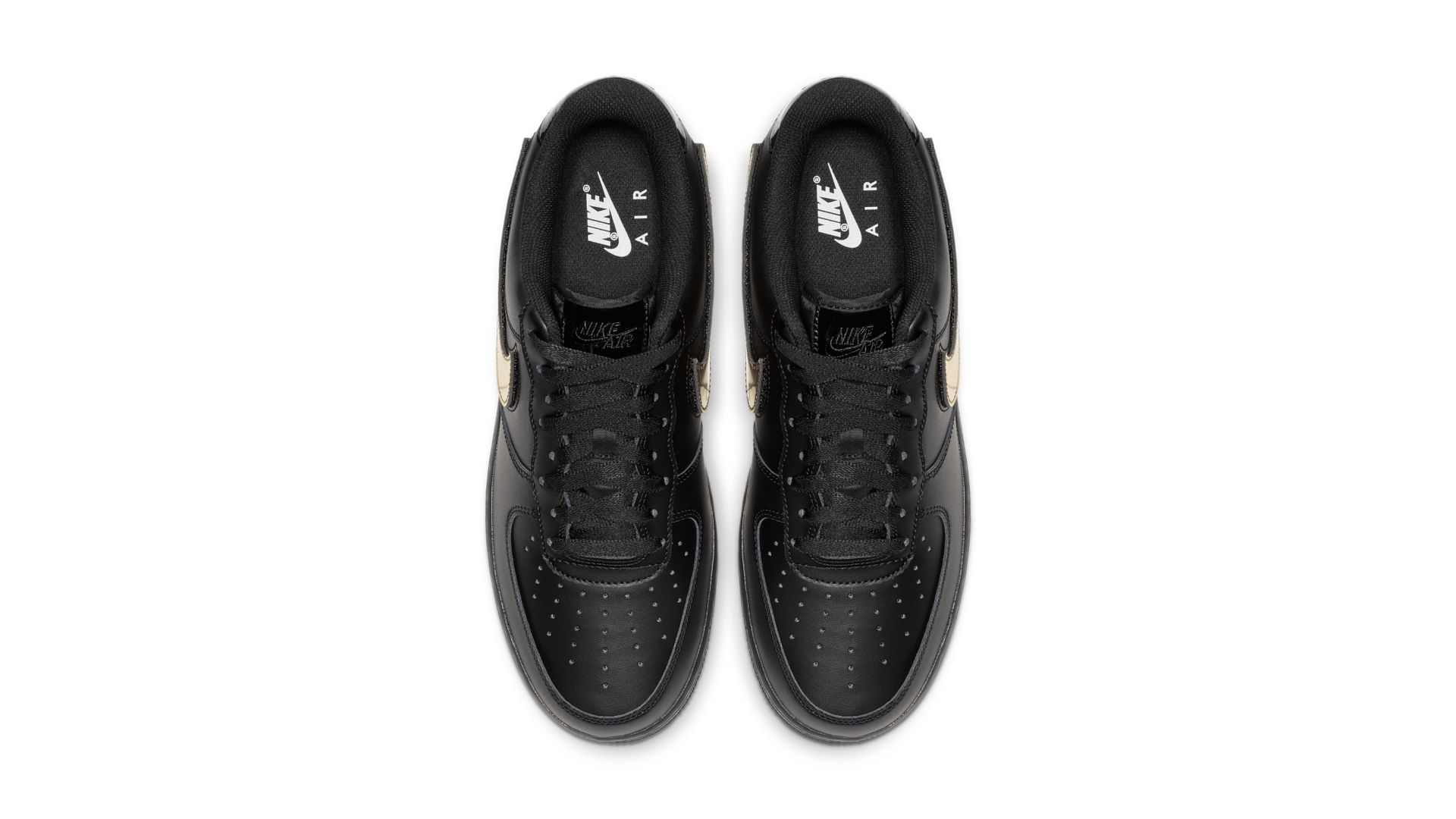 Nike Air Force 1 Black Metallic Gold (CT2252-001)