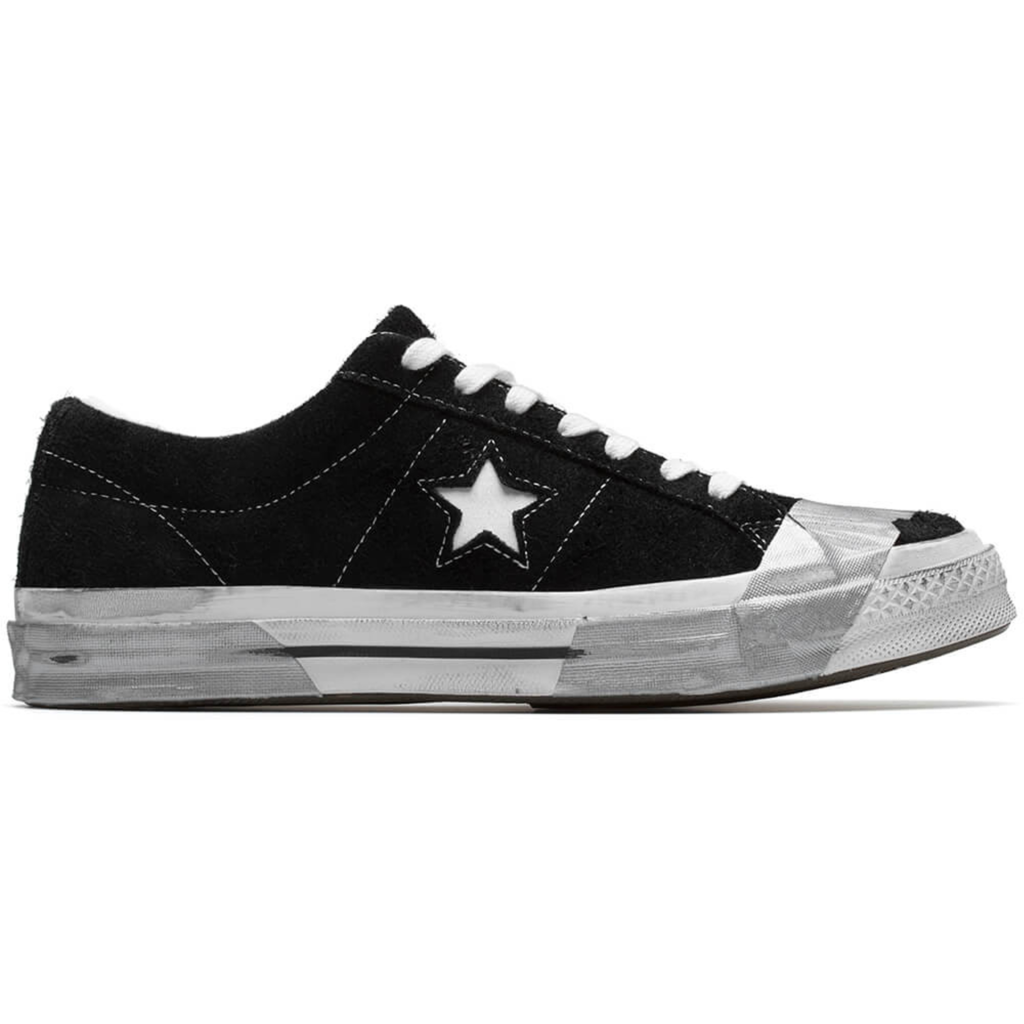 Converse One Star Ox Suede Black Grey Tape