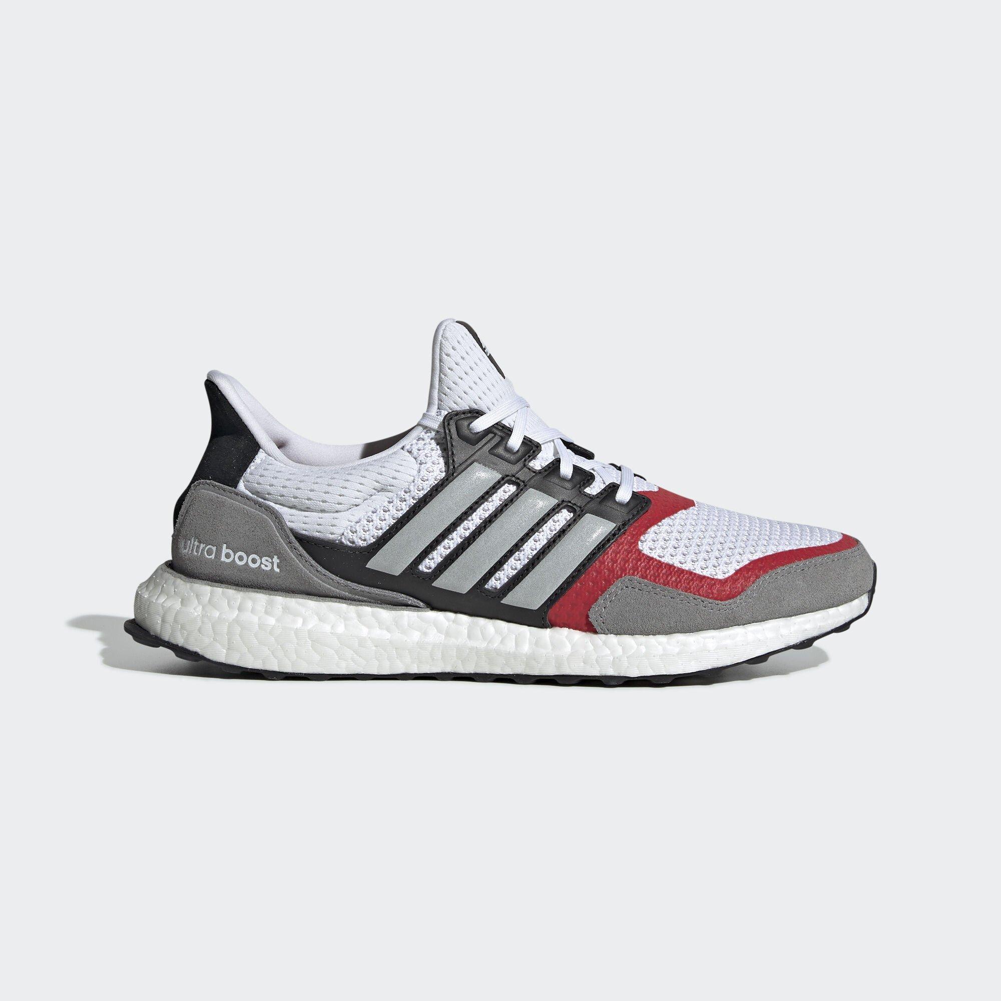 adidas Ultra Boost SL White Grey Scarlet (EF2027)