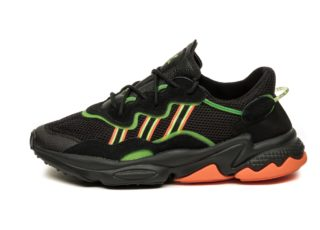 adidas Ozweego (Core Black / Siren Green / Hi Res Coral)