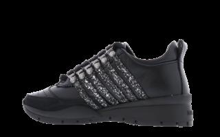 251 Sneaker Glitter Zwart