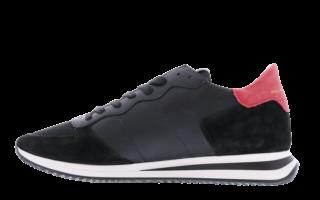 Tropez X leather with bi-color Zwart