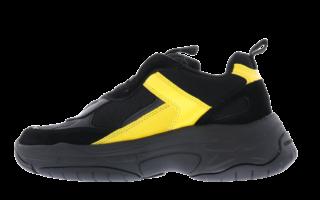 Maya Mesh Black Yellow Zwart