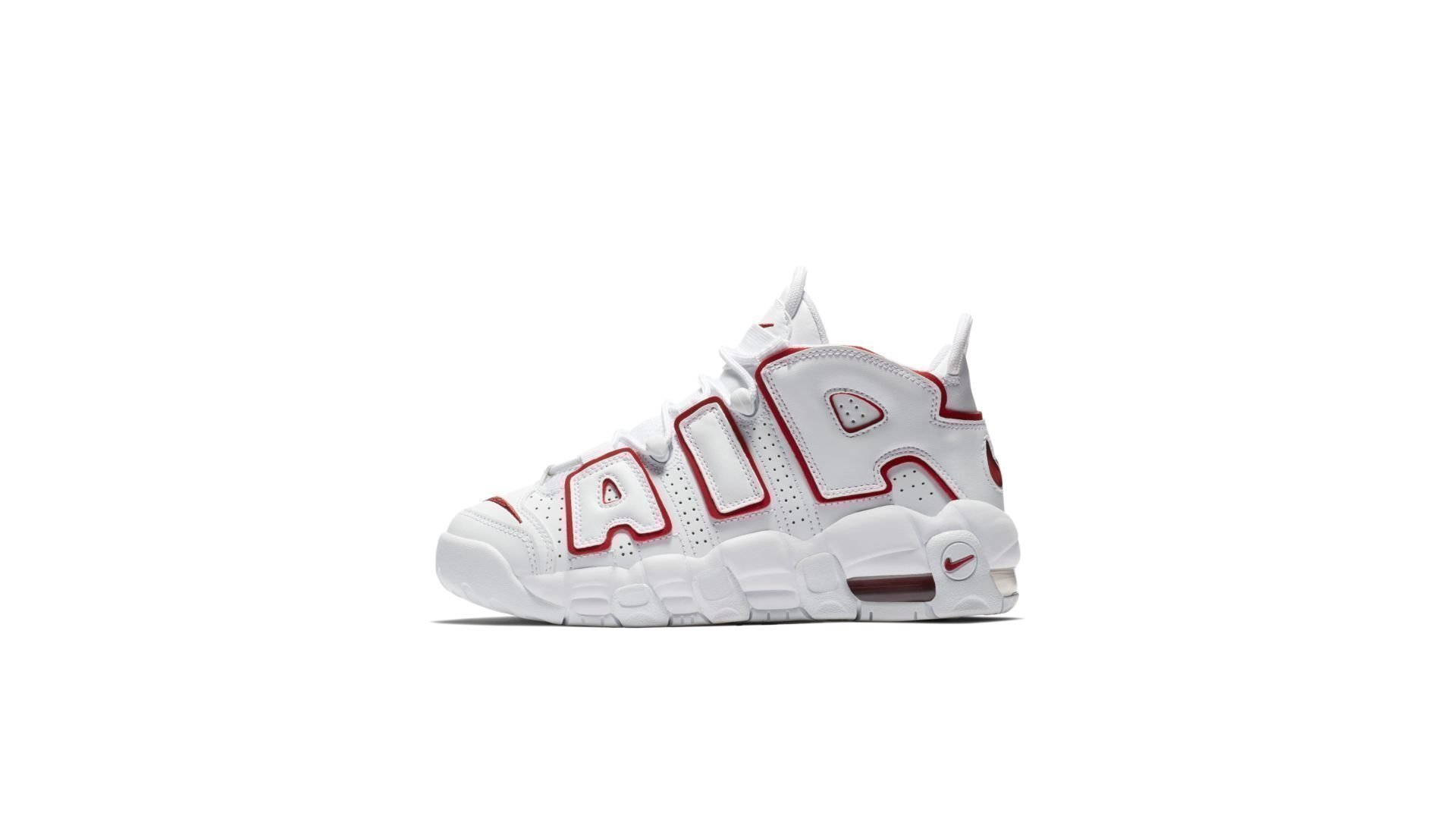 Nike Air More Uptempo White Varsity Red Outline (GS) (415082-108)